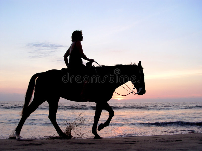Lone rider stock photos