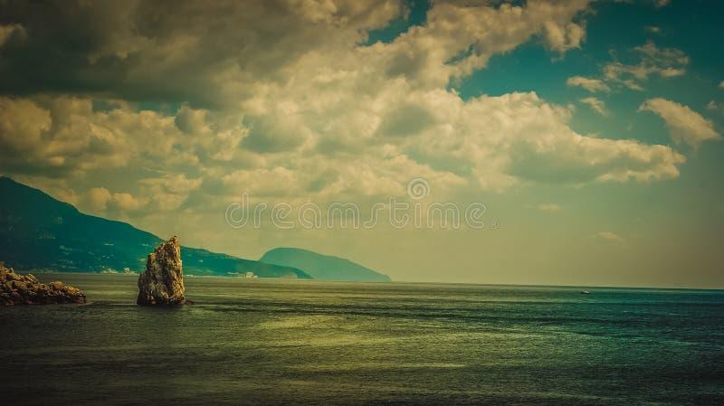 Sea and rocks royalty free stock photos