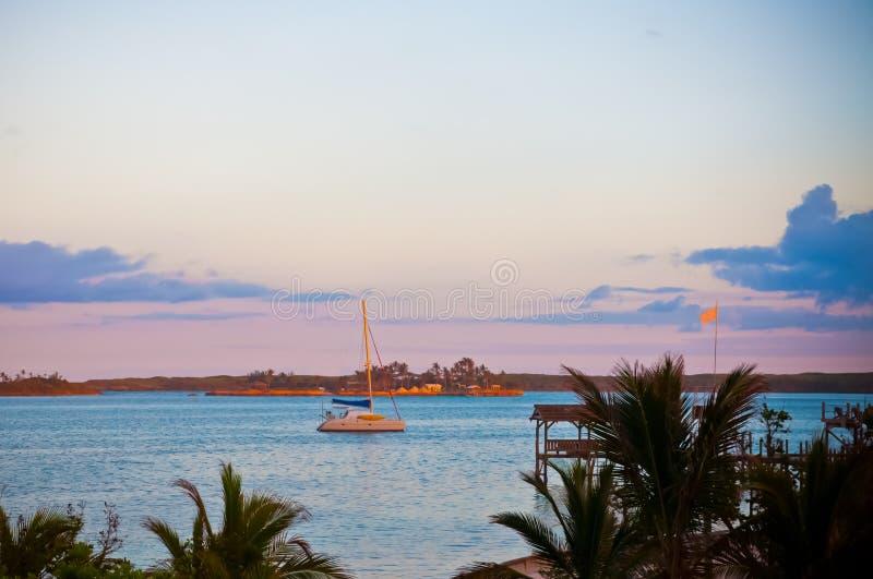 Lone Sailboat royalty free stock image