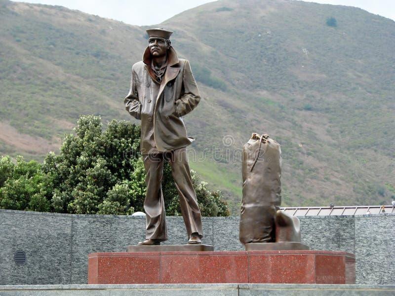 The Lone Sailor Memorial Statue royalty free stock photos
