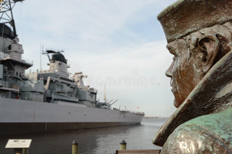 Lone Sailor in Norfolk, Va. stock image