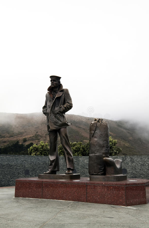 Lone Sailor Statue royalty free stock photos