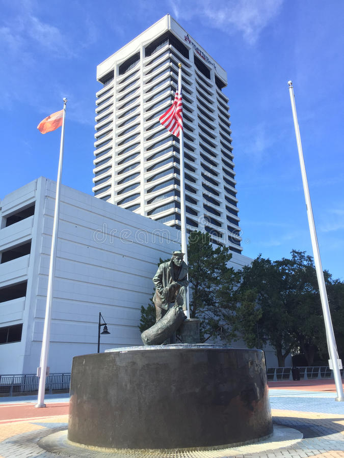 Lone Sailor Statue, Jacksonville, FL. stock image