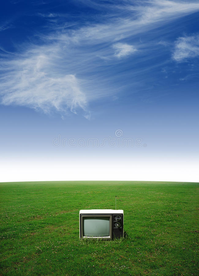 Download Lone television stock photo. Image of landscape, watching - 26319514