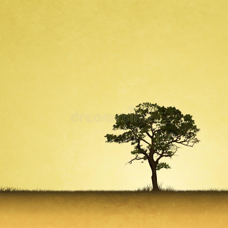 lone tree stock illustrationer