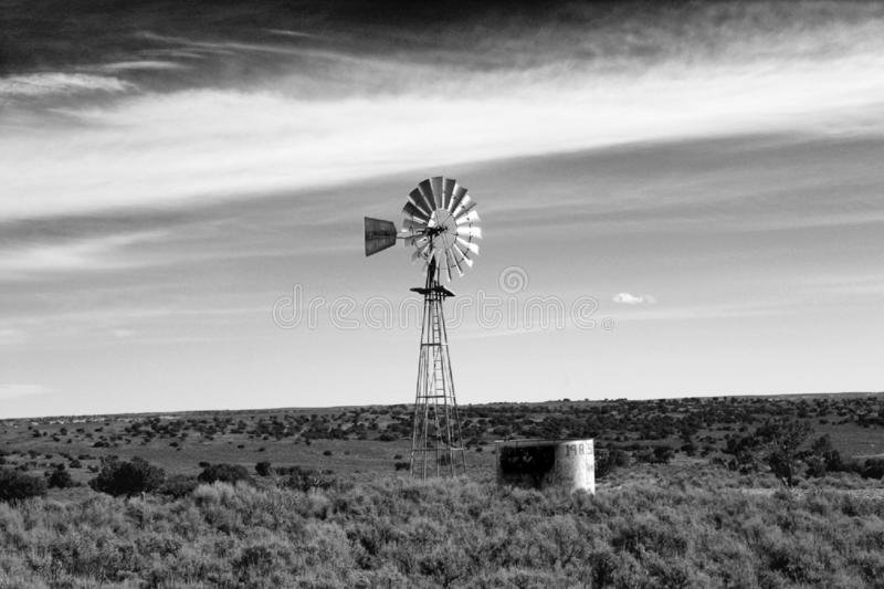 """Lone Windmill. I took this picture when my family and I were out driving around, it just jumped out and said """"photo op"""". After I edited it, I knew I royalty free stock photo"""