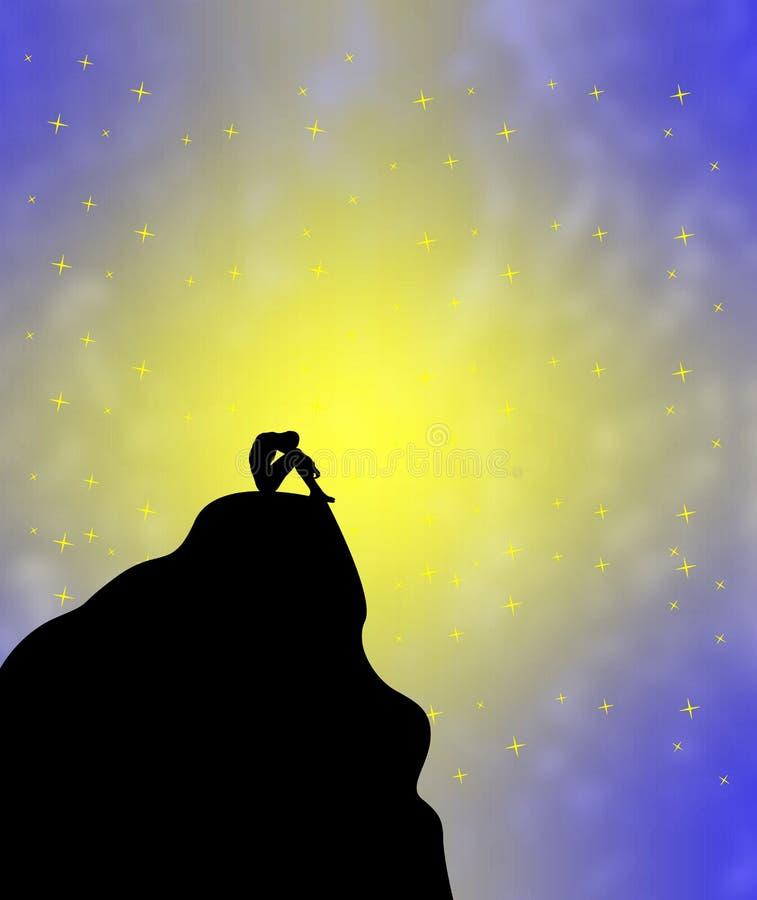 loneliness illustrazione di stock