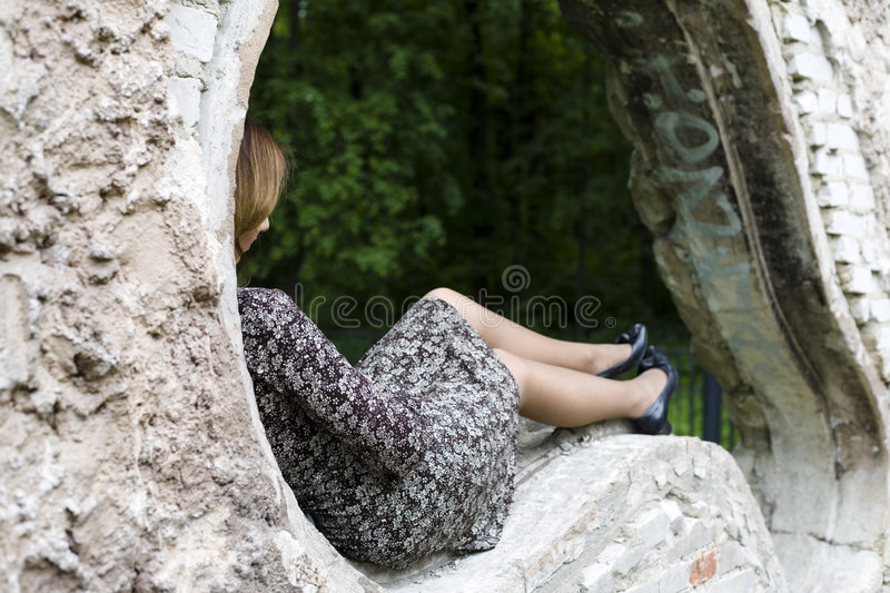 Download Loneliness stock photo. Image of color, hair, image, green - 5336648
