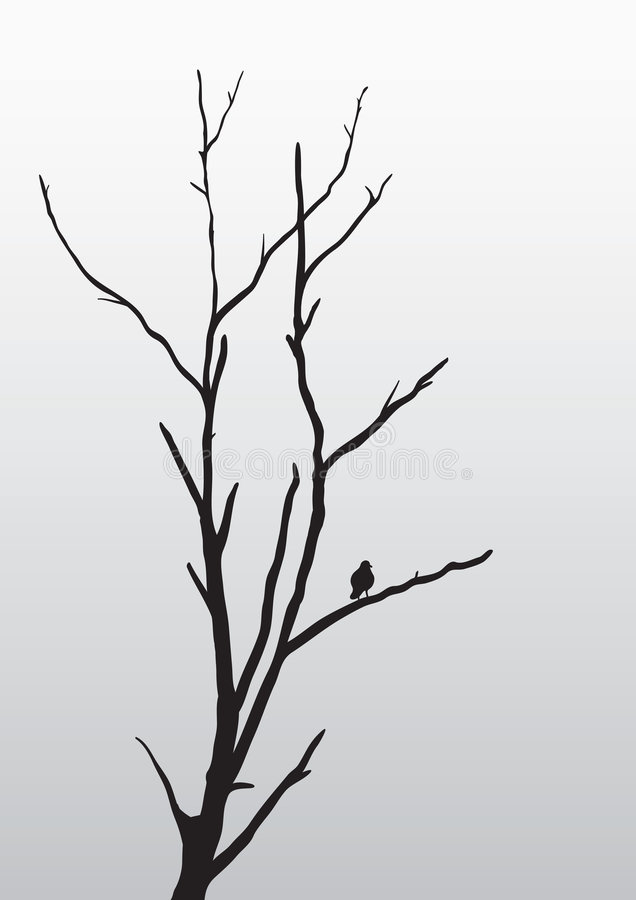 Download Loneliness stock vector. Illustration of gray, branch - 9225086
