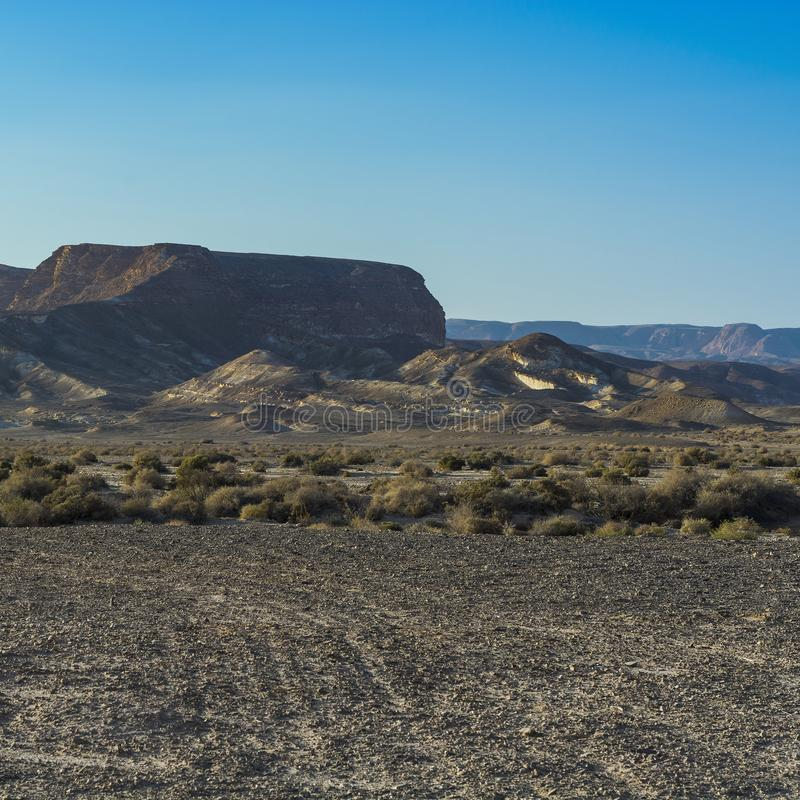 Loneliness and emptiness of the desert stock images