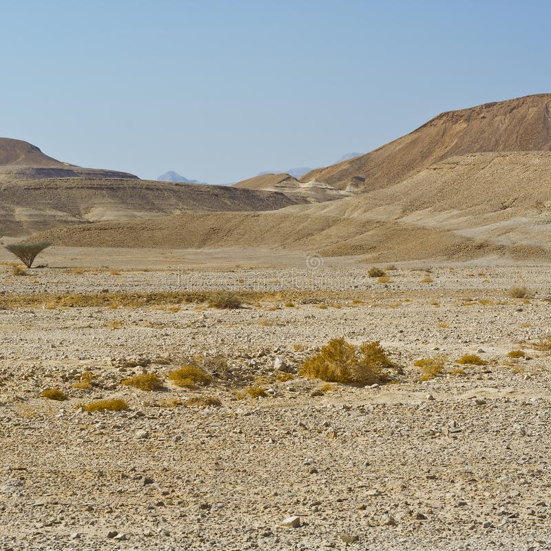 Loneliness and emptiness of the desert stock photography