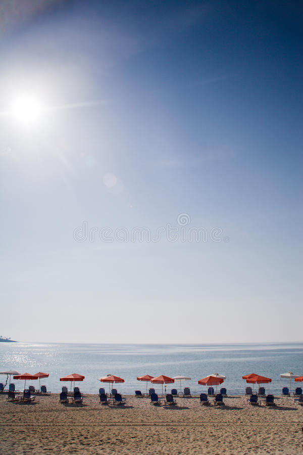 Lonelly plaża zdjęcie stock