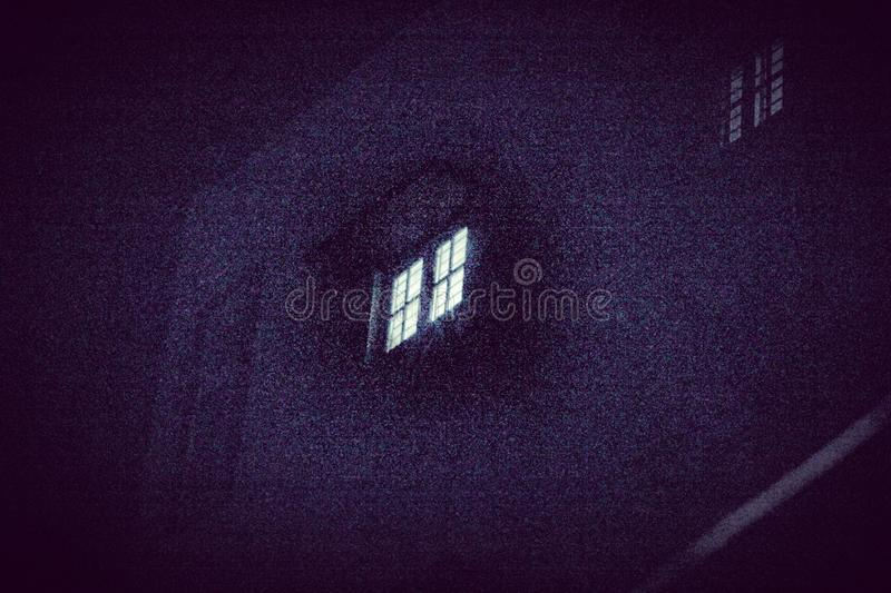 The lonely window at night royalty free stock photography