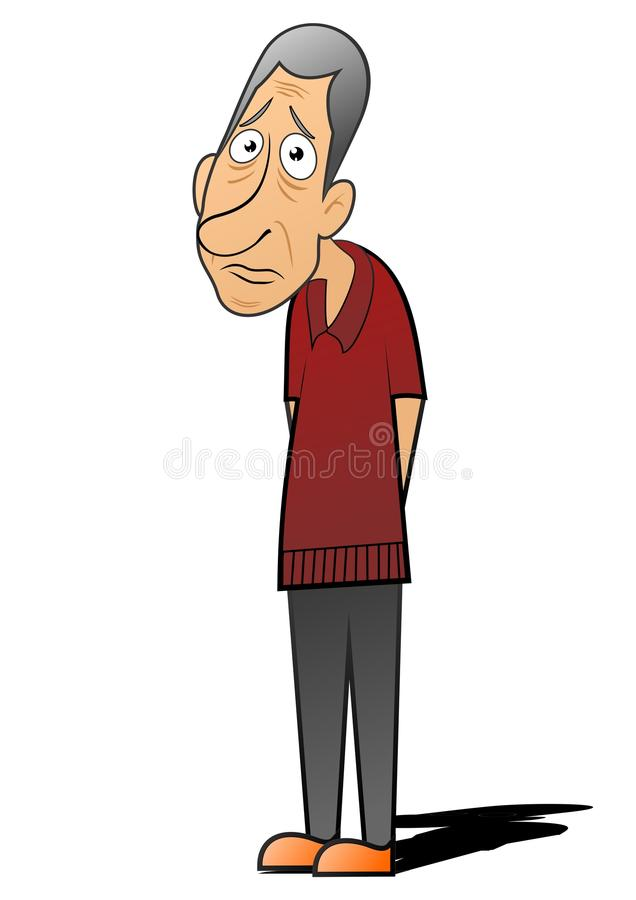 Download Lonely stock illustration. Image of grim, expression - 23229889
