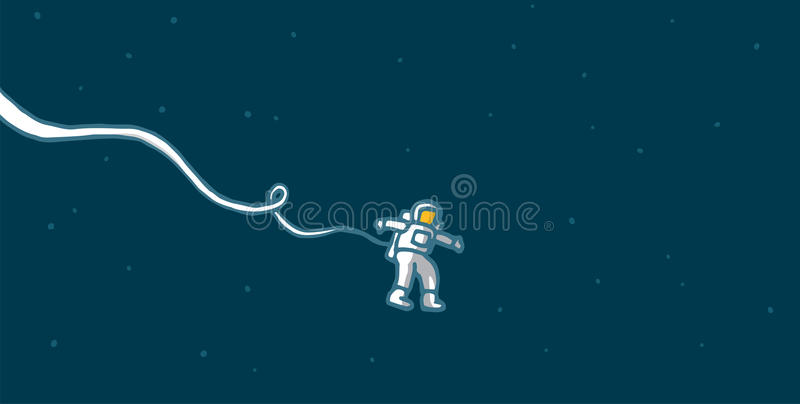 Download Lonely astronaut in space stock vector. Illustration of astronaut - 39511260