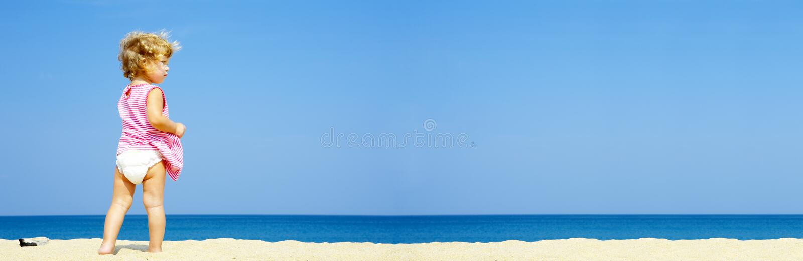 Lonely Baby Banner Stock Image