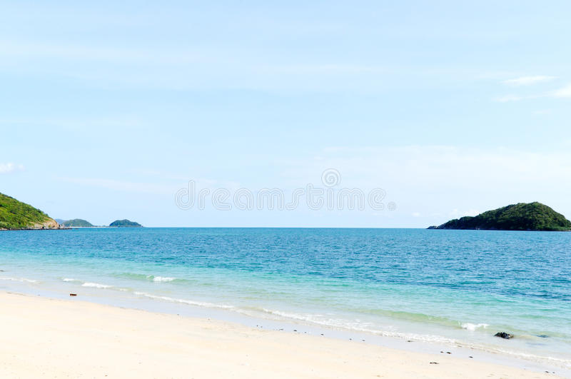 Lonely beach stock photography