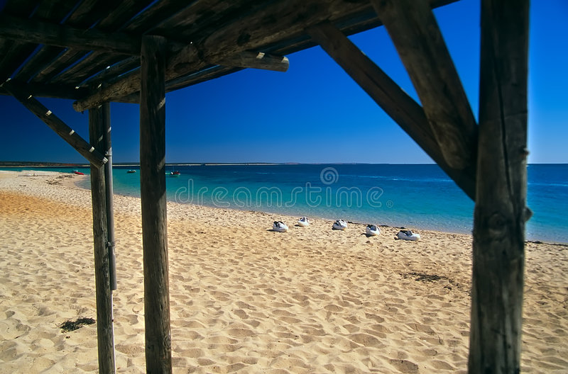 Lonely Beach Royalty Free Stock Photos
