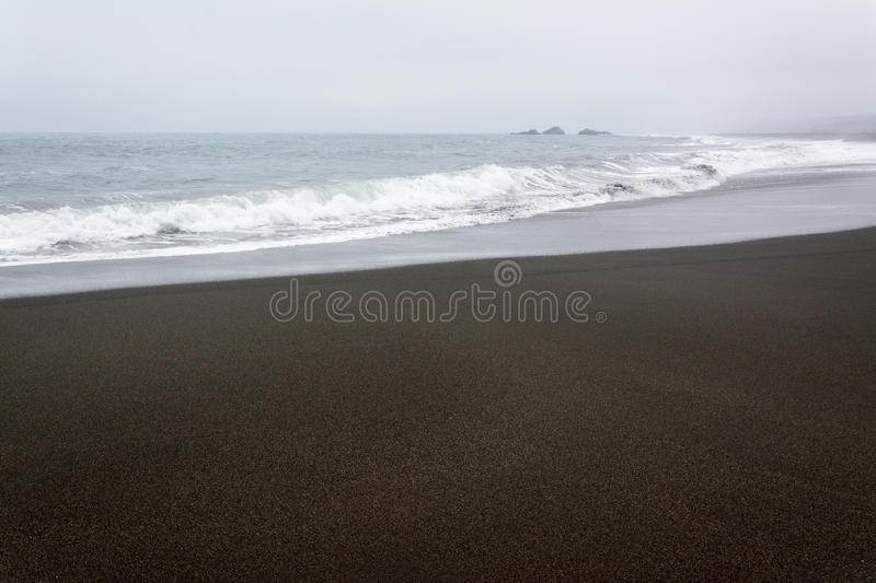Lonely beach royalty free stock images