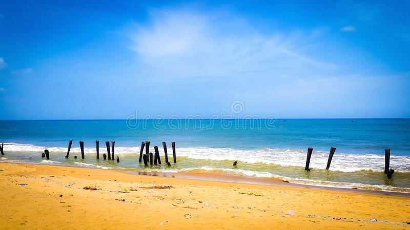 The lonely Beach royalty free stock images