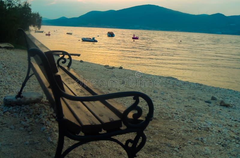 Lonely beach. Near Okrug Gornji stock photos