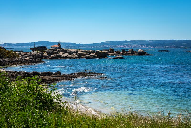 Lonely beach in the Rias Baixas, Galicia royalty free stock images