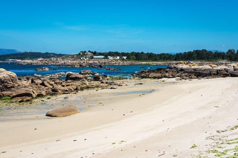 Lonely beach in the Rias Baixas, Galicia stock photos