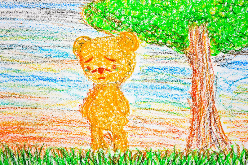 A lonely bear stock images