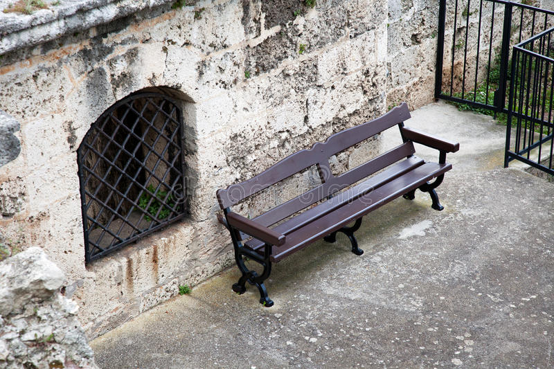 Download Lonely Bench stock image. Image of wooden, summer, metal - 24844541
