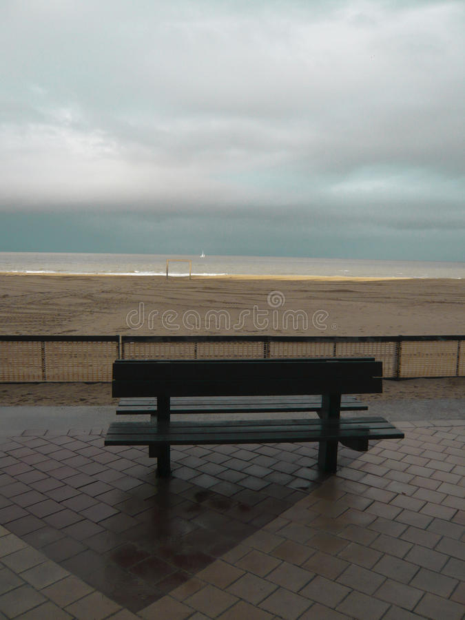 Lonely bench royalty free stock photography