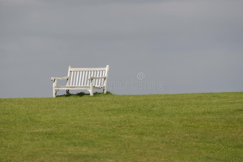 Lonely bench 1 royalty free stock photography