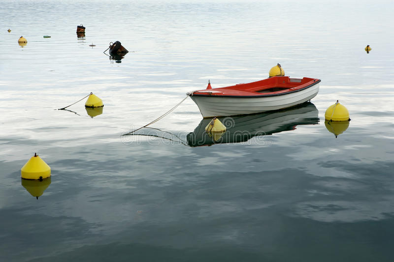 Lonely Boat Stock Photo
