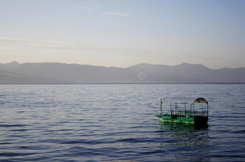 Download Lonely boat stock image. Image of atmosphere, mountain - 25871833