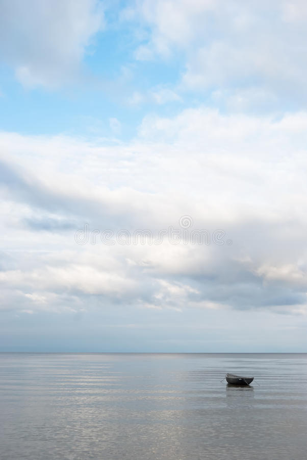 Download Lonely boat stock image. Image of nature, peaceful, romantic - 26841417