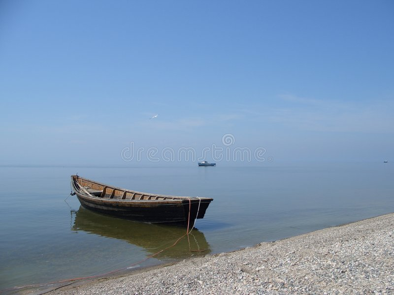 Download Lonely boat stock image. Image of vacation, boat, shingle - 500643