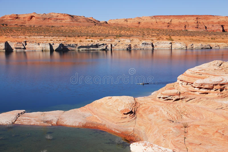 Download Lonely boat with oars stock photo. Image of canyon, colorado - 18872240