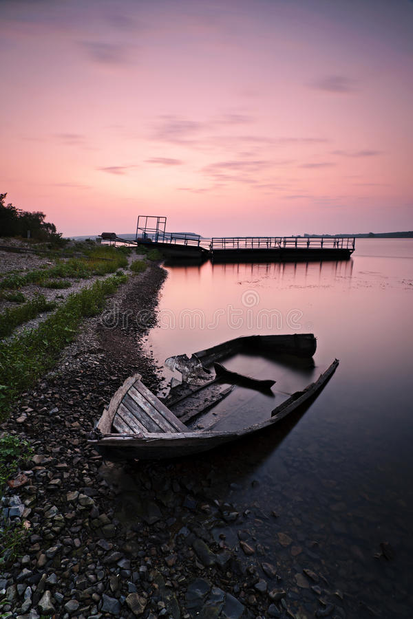 Free Lonely Boat On The Bank Stock Photos - 15738553