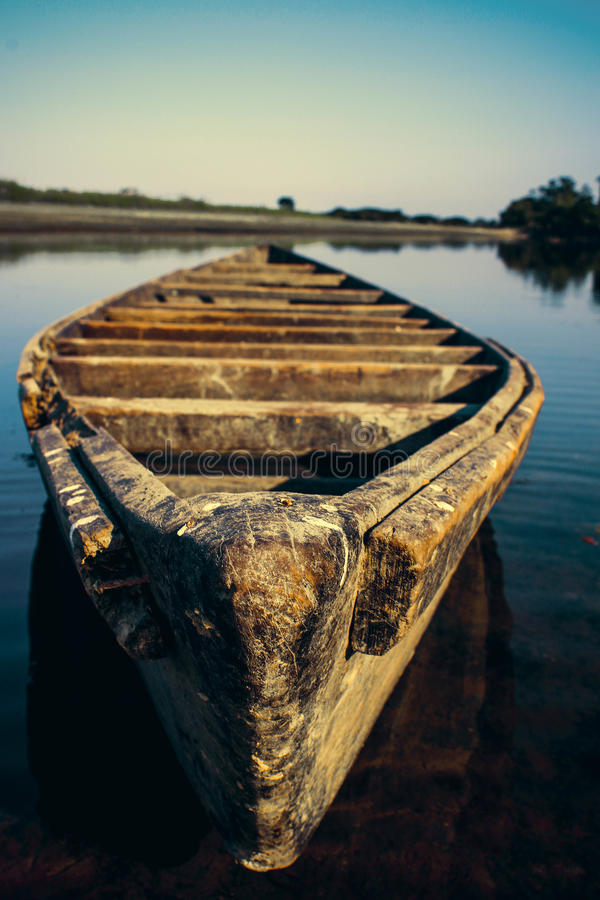 The lonely boat. This photo was click in assam , india royalty free stock images