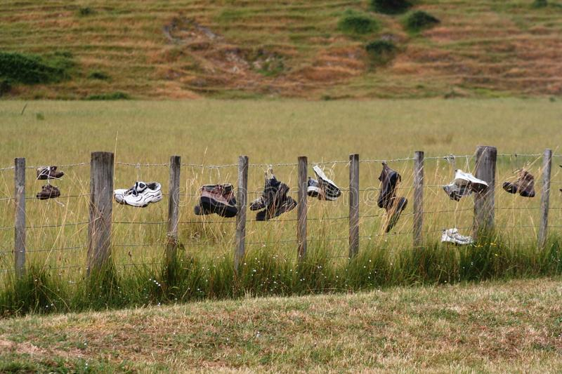 Lonely Boots royalty free stock images