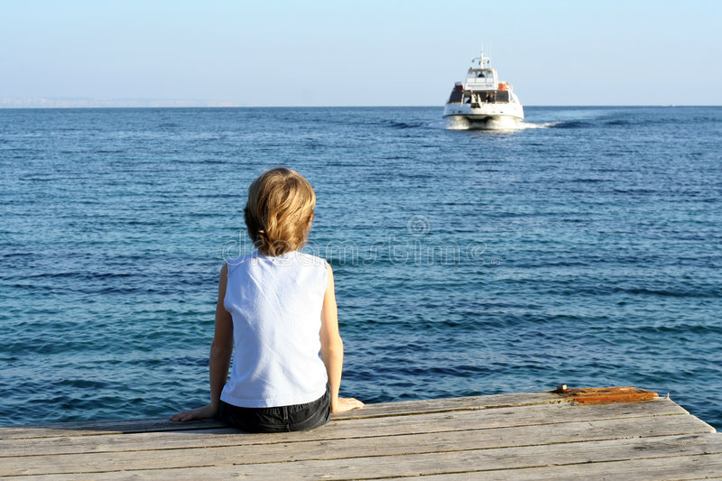 lonely boy royalty free stock image