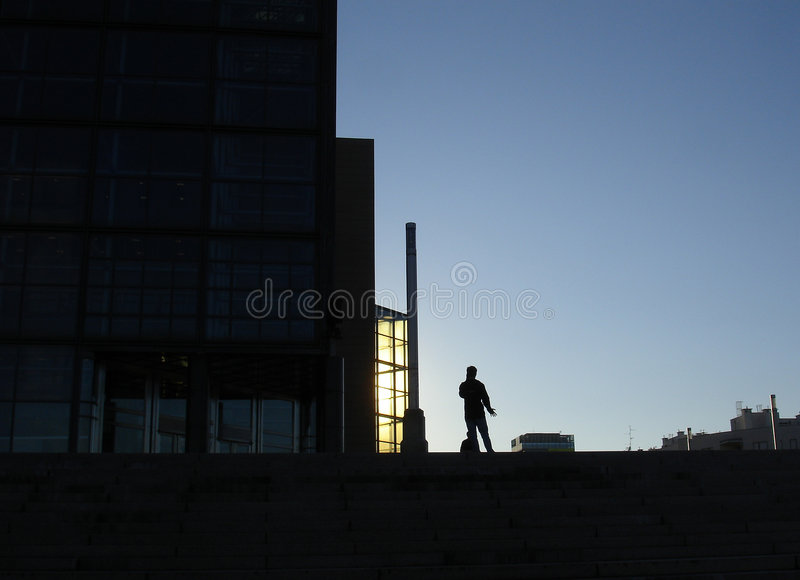 Lonely business man stock photography