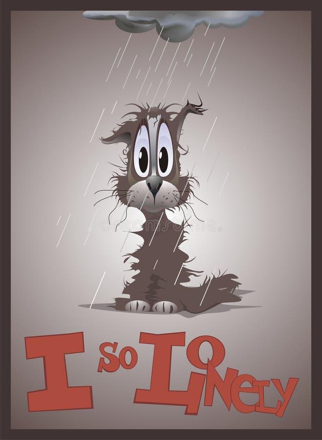 Download Lonely cat stock illustration. Illustration of illustration - 4073761