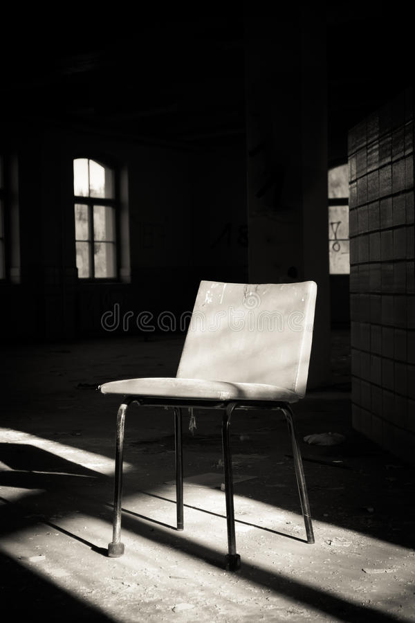 Lonely chair royalty free stock image