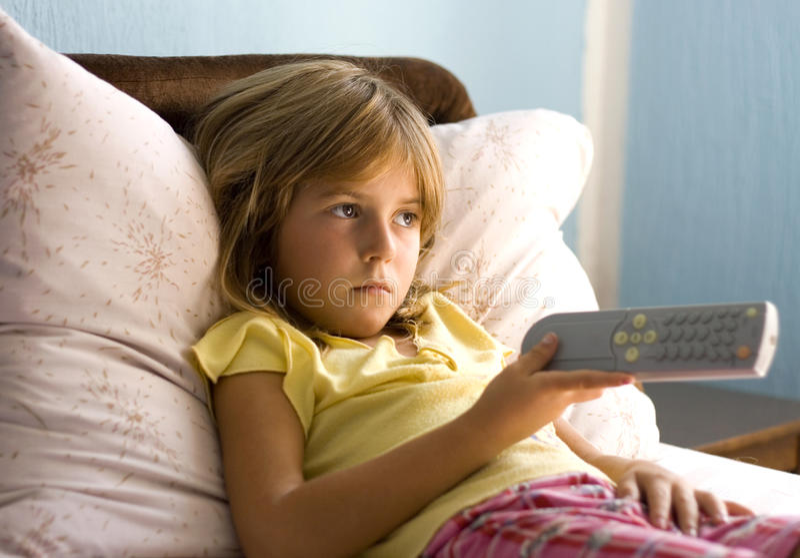 Lonely child stock photo