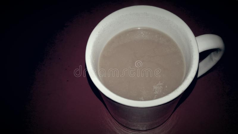 A lonely coffee cup stock photos