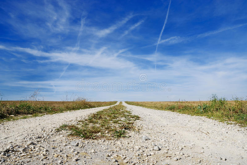 Lonely dirt track royalty free stock photography