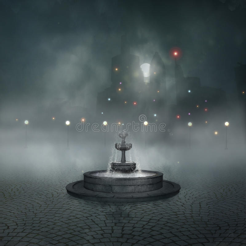 Lonely Fountain Stock Photography
