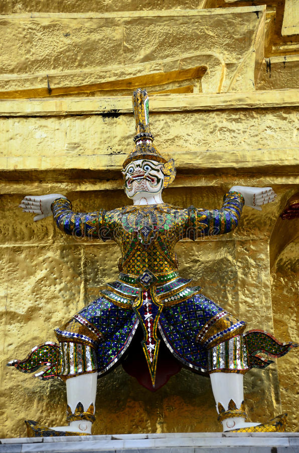 Lonely giant. Stand in temple thailand stock photos