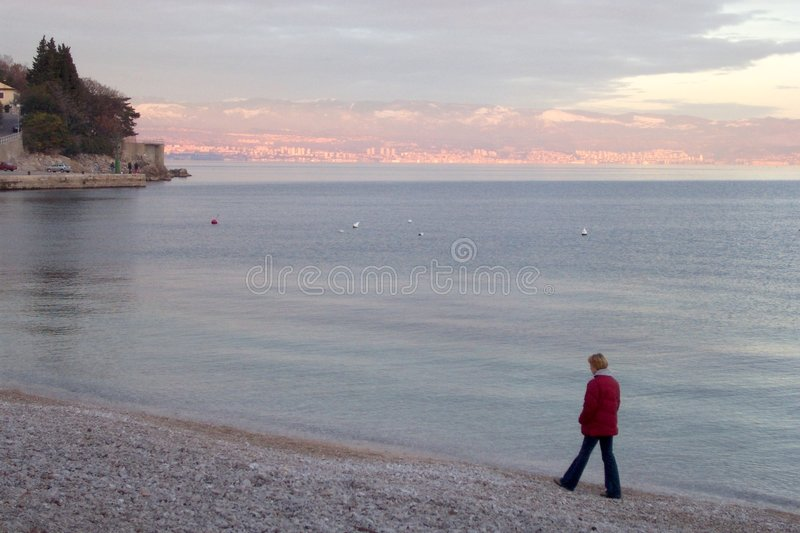 Download Lonely girl stock photo. Image of blue, thinking, beach - 75168