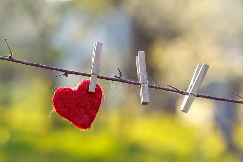 Lonely heart stock images